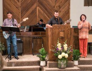 Praise team at Grace Bible Church.